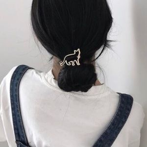 Accessories - Cat Lover's Silver Hair Clip
